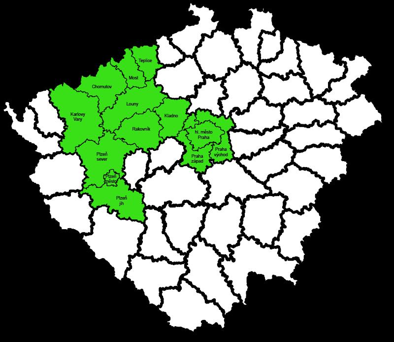 Mapa rozvozů 2018